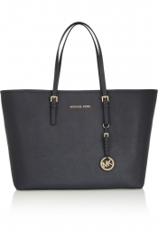 MICHAEL MICHAEL KORS Jet Set Travel medium textured-leather tote