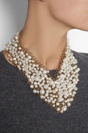 ROSANTICA Osiris gold-dipped pearl necklace
