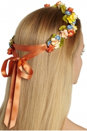 EUGENIA KIM Anais floral ribbon headband