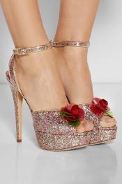 CHARLOTTE OLYMPIA Sabrina glittered PVC platform sandals