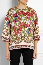 DOLCE & GABBANA Floral-jacquard top