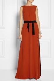 MARNI Color-block crepe gown