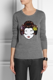 MARKUS LUPFER Geisha sequined merino wool sweater