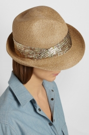 EUGENIA KIM Max toyo and cotton-blend trilby