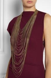 ROSANTICA Millefili gold-dipped quartz necklace