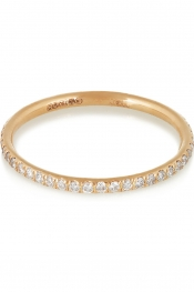ILEANA MAKRI 18-karat rose gold diamond eternity thread ring