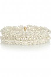 SIMONE ROCHA Faux pearl necklace