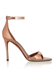 GIVENCHY Mirrored-leather sandals in rose gold