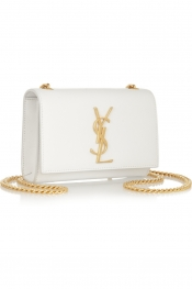 SAINT LAURENT Monogramme textured-leather shoulder bag