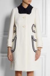 MIU MIU A-line wool-piqué coat