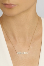 JENNIFER MEYER I Love London 18-karat gold diamond necklace