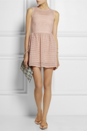 MAJE Elixir broderie anglaise organza mini dress