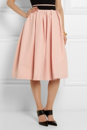 PREEN BY THORNTON BREGAZZI Everly pleated stretch-crepe skirt