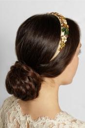 DOLCE & GABBANA Swarovski crystal-embellished silk headband