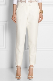 FENDI Cropped cotton-crepe tapered pants