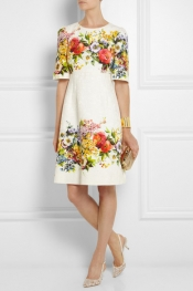 DOLCE & GABBANA Floral-brocade dress