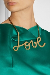 LANVIN Iconic Love gold-tone necklace
