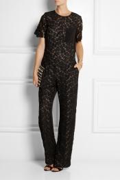 ERDEM Abel lace and silk-blend crepe jumpsuit