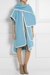 CHLOÉ Alpaca-blend blanket cape