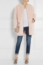 MSGM Faux shearling coat