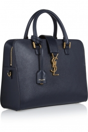 SAINT LAURENT Monogramme Cabas small leather tote