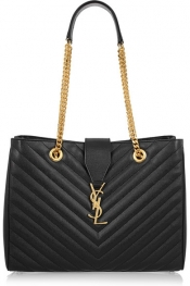 SAINT LAURENT Monogramme quilted leather tote