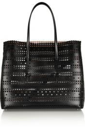 ALAÏA Laser-cut leather tote