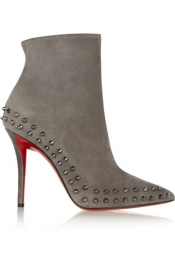 CHRISTIAN LOUBOUTIN Willeta 100 spiked suede ankle boots