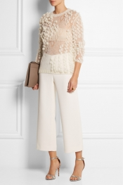 DELPOZO Bobble-knit mohair-blend sweater