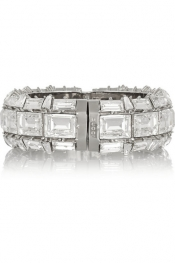 GUCCI Silver-plated Swarovski crystal bracelet