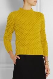 GUCCI Waffle-knit wool sweater