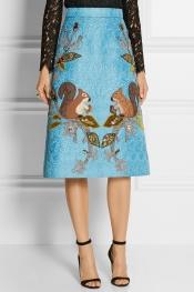 DOLCE & GABBANA Embellished jacquard skirt