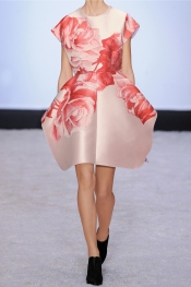 GIAMBATTISTA VALLI Floral-jacquard mini dress