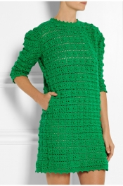 SIBLING Crocheted merino wool mini dress