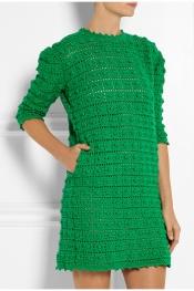 SIBLING Crocheted merino wool mini dress