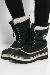 SOREL Caribou suede and waterproof rubber boots