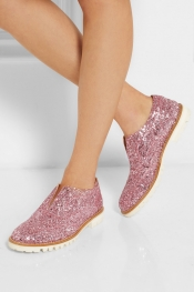 FINDS L' F Shoes + Gipsy Ilga glitter-finished leather brogues