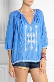 MELISSA ODABASH Ange embroidered voile top