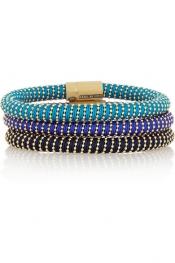 CAROLINA BUCCI Twister set of three gold-plated bracelets