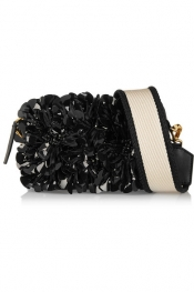 MARNI Embellished leather shoulder bag