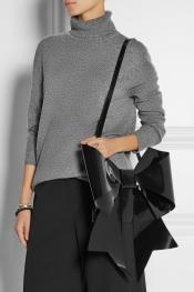 MM6 MAISON MARTIN MARGIELA Bow-embellished PU shoulder bag