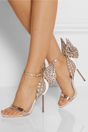 SOPHIA WEBSTER Evangeline metallic and patent-leather sandals