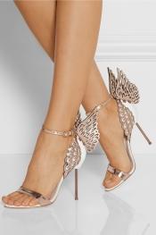 SOPHIA WEBSTER Evangeline metallic and patent-leather sandals