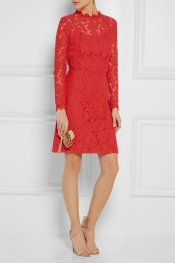 TEMPERLEY LONDON Coco cotton-blend lace dress