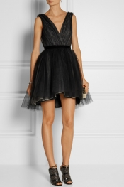ALICE + OLIVIA Mini-robe en tulle à superpositions Princess