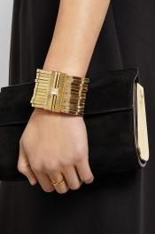 LANVIN Gold-tone crystal bracelet