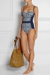 TORY BURCH Laguna printed swimsuit
