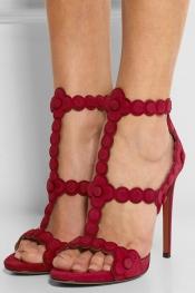 ALAÏA Laser-cut suede sandals