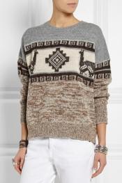 ÉTOILE ISABEL MARANT Remington intarsia alpaca-blend sweater