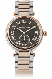 MICHAEL KORS Skylar crystal-embellished two-tone watch